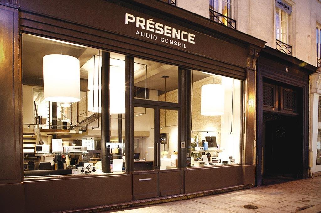 Façade de notre magasin haute fidélité à Paris