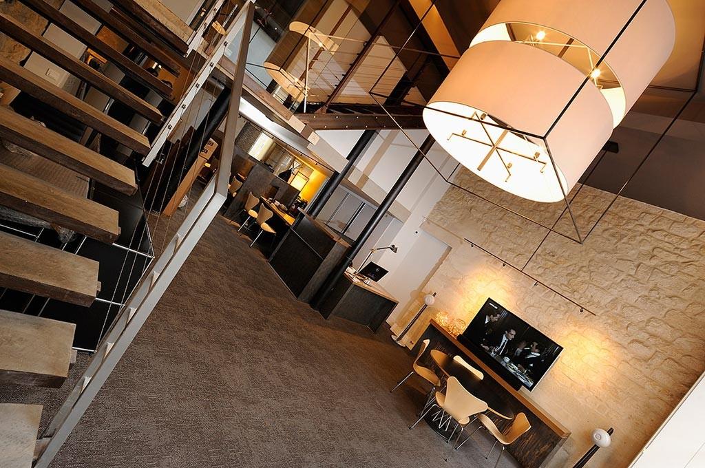 Hall du magasin hifi Présence AUdio Conseil à Paris